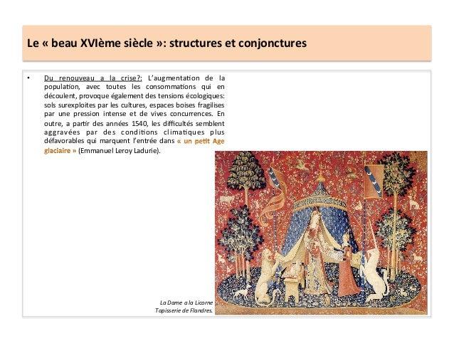 Le « beau XVIème siècle »: structures et conjonctures • Du  renouveau  a  la  crise?:  L'augm...