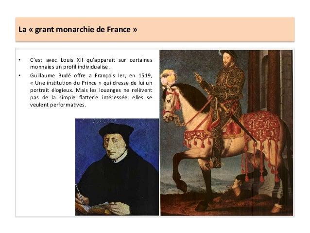 La « grant monarchie de France » • C'est  avec  Louis  XII  qu'apparaît  sur  certaines monna...