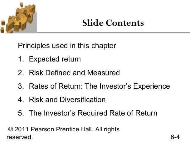 6 Risk Return