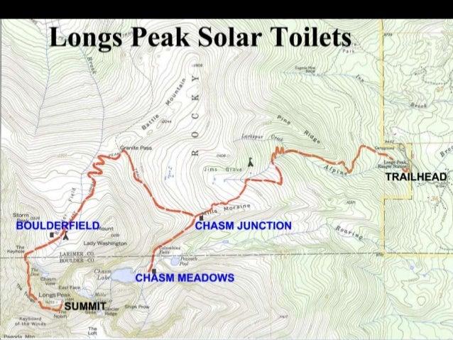 Joe Arnold Solar Dehydrating Toilets on Longs Peak Colorado