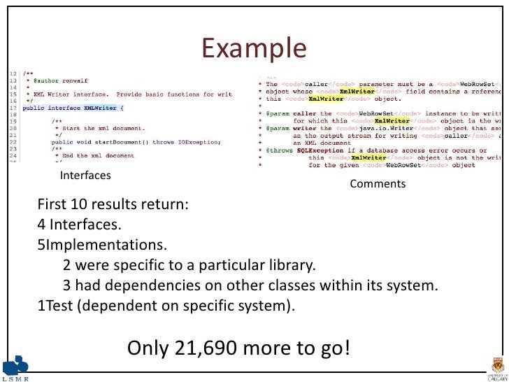 The End To End Use Of Source Code Example An Exploratory Study Icsm