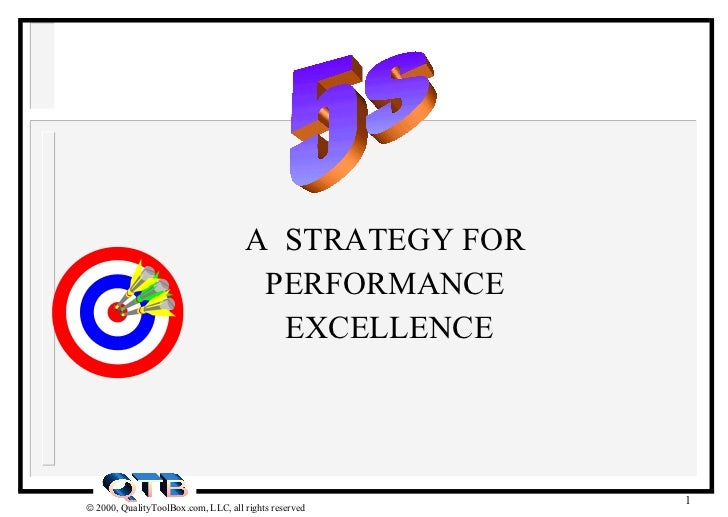 A  STRATEGY FOR PERFORMANCE EXCELLENCE 5s