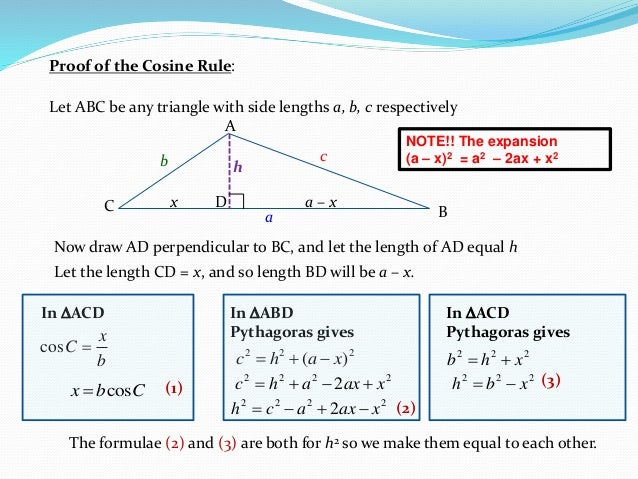 how to know whether to use sine or cosine law