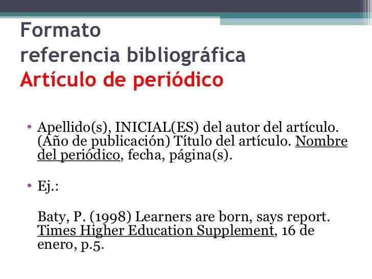 Generador de citas bibliograficas online