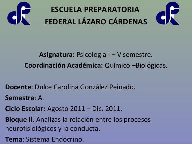 ESCUELA PREPARATORIA             FEDERAL LÁZARO CÁRDENAS          Asignatura: Psicología I – V semestre.      Coordinación...