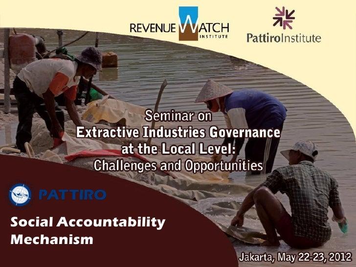 Social AccountabilityMechanism