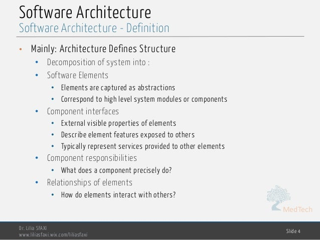 Software Engineering - chp5- software architecture