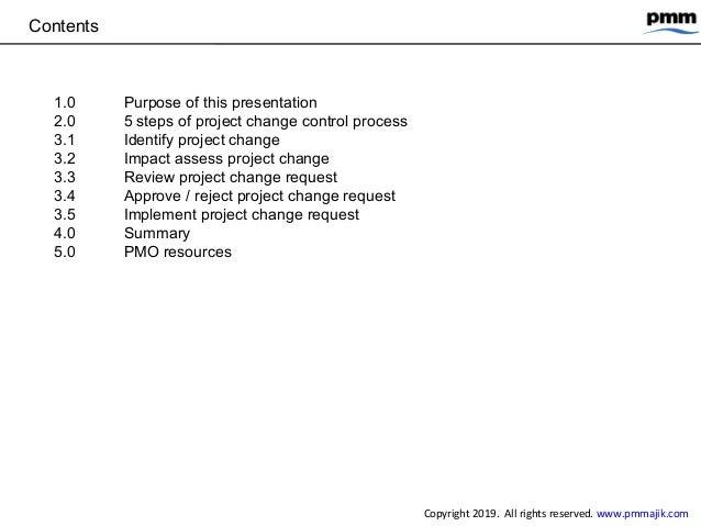 5 steps project change control process Slide 2