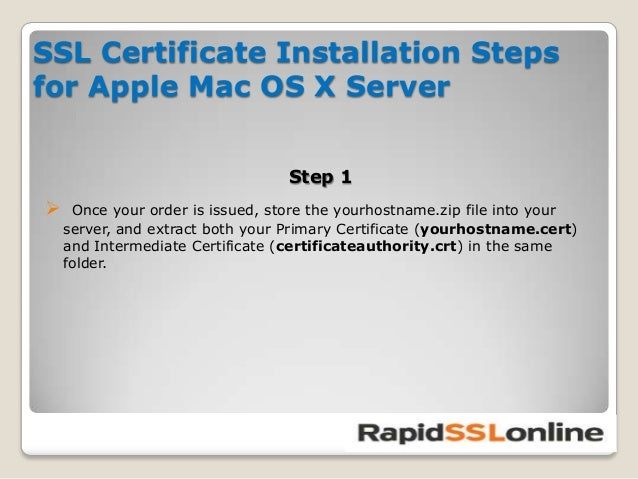 5 Steps To Install SSL Certificate For Your Apple MAC OS X