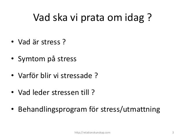 vad leder stress till
