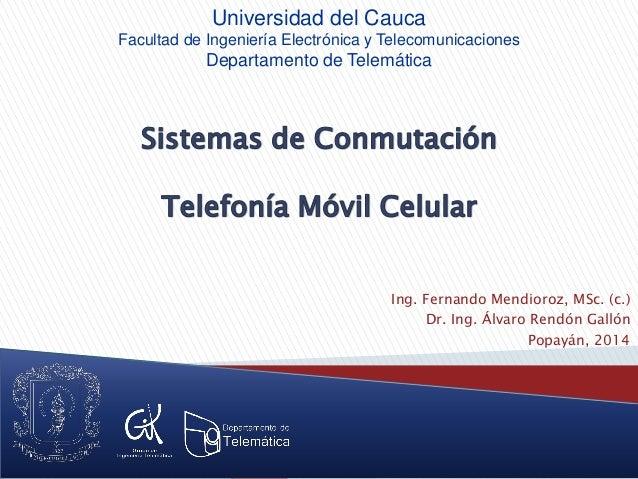 Ing. Fernando Mendioroz, MSc. (c.) Dr. Ing. Álvaro Rendón Gallón Popayán, 2014 Universidad del Cauca Facultad de Ingenierí...