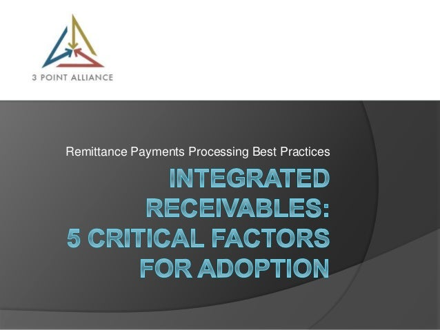 Remittance Payments Processing Best Practices