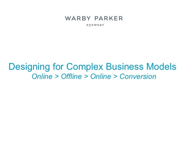 Designing for Complex Business Models     Online > Offline > Online > Conversion