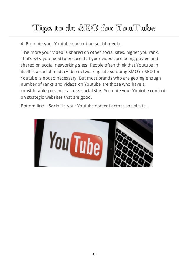 Tips to do SEO for YouTube 5- Dress-up your channel page: On the social word, if you are dressing up properly, and have a ...