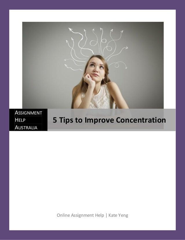 5 tips to improve concentration. Black Bedroom Furniture Sets. Home Design Ideas