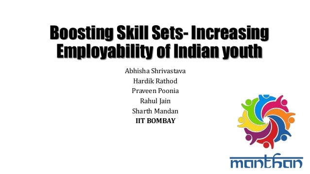 Boosting Skill Sets- Increasing Employability of Indian youth Abhisha Shrivastava Hardik Rathod Praveen Poonia Rahul Jain ...