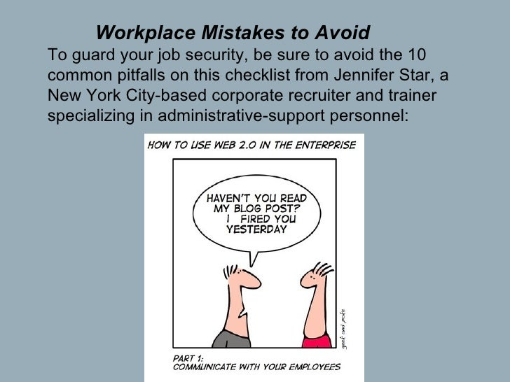 3 workplace mistakes to avoid to guard your job - Getting Fired How To Avoid Getting Fired From Your Job