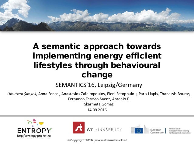 CLICK TO EDIT MASTER TITLE STYLE A semantic approach towards implementing energy efficient lifestyles through behavioural ...