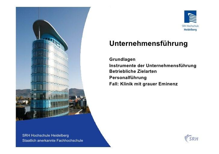 Unternehmensführung                                          Grundlagen                                          Instrumen...