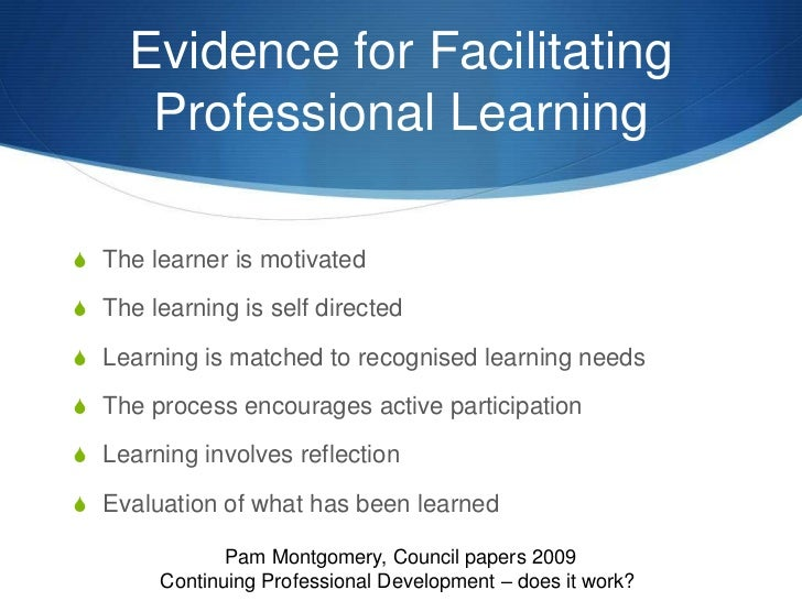 an analysis of the concept of continuing professional development Professional and personal development lessons from a continuing professional development initiative in a london understanding of the core concepts in.