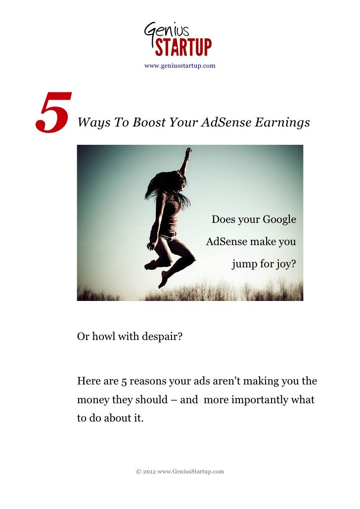 www.geniusstartup.com5   Ways To Boost Your AdSense Earnings                                         Does your Google     ...