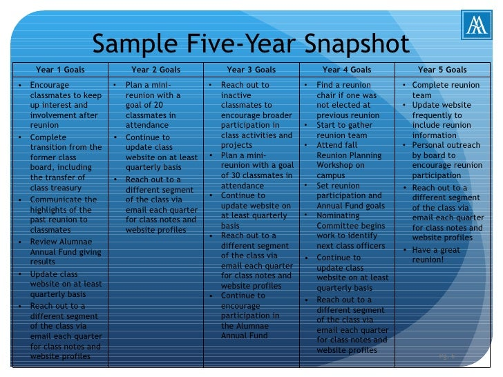 5 yr plan for 5 year goal plan template