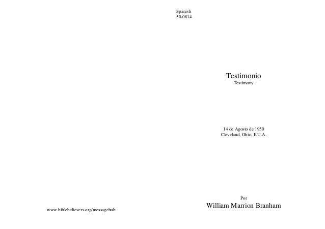 Spanish                                    50-0814                                                    Testimonio          ...