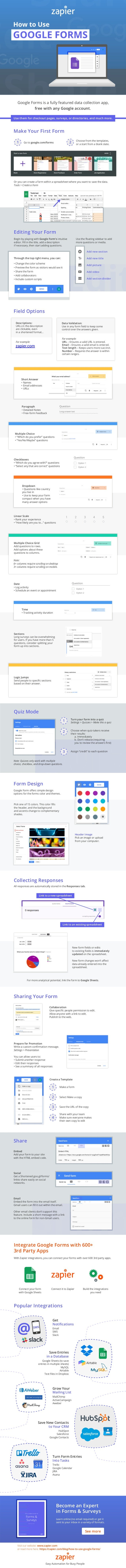Google Forms is a fully featured data collection app, Make Your First Form Go to google.com/forms Collaboration Give speci...
