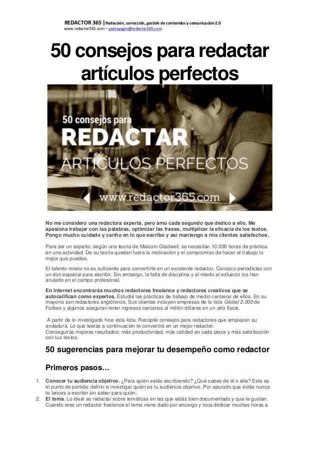 REDACTOR 365  Redacción, corrección, gestión de contenidos y comunicación 2.0 www.redactor365.com – yasnayagm@redactor365....