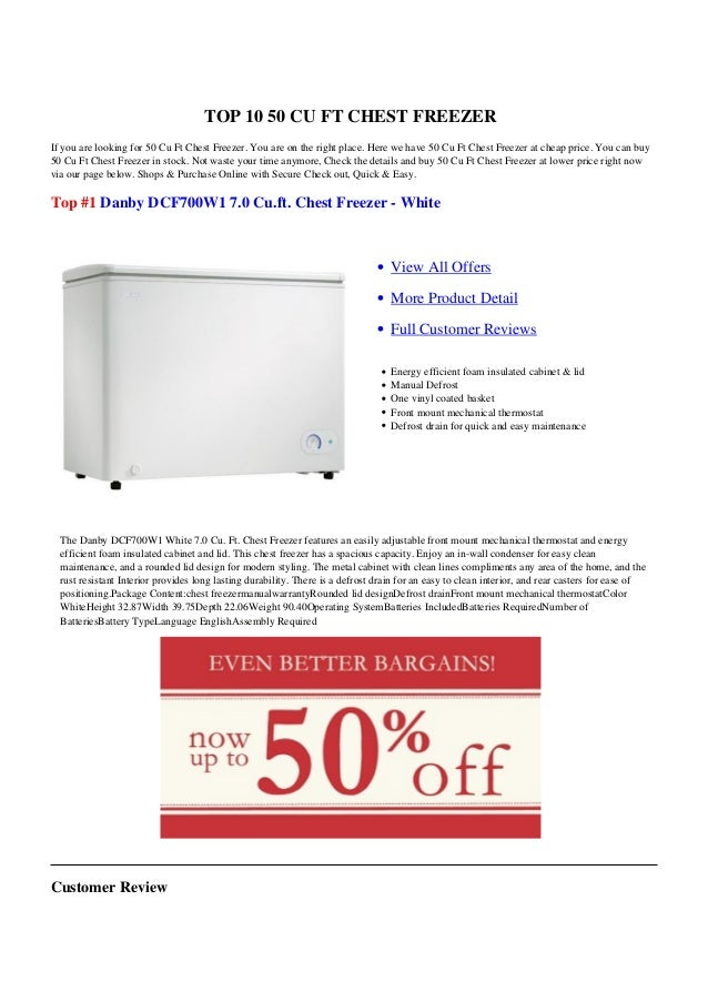 50 Cu Ft Chest Freezer