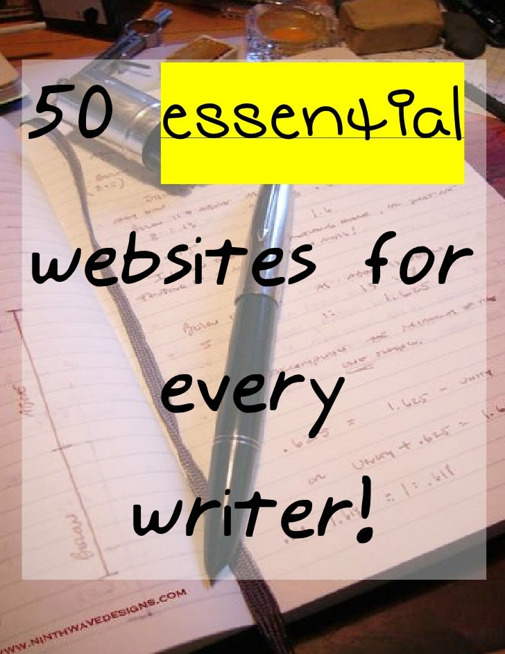 50 essential websites for    every   writer!