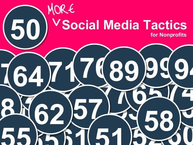 Presenter 50 Social Media Tactics 5319 6 747726 652231 7176 999489764 5762 58 for Nonprofits 8
