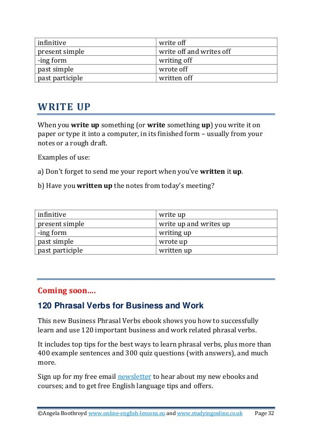 write up forms