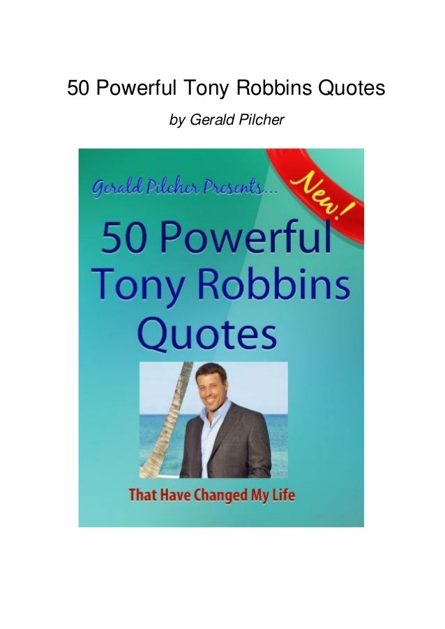 50 Powerful Tony Robbins Quotes