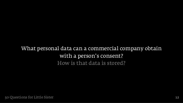 What personal data can a commercial company obtain                       with a person's consent?                      How...