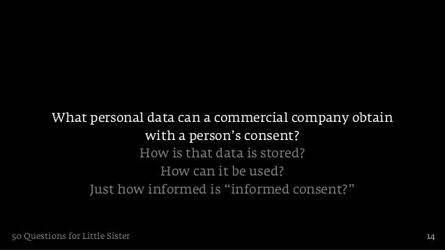 What personal data can a commercial company obtain                        with a person's consent?                       H...