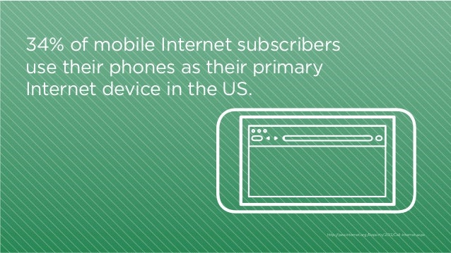 34% of mobile Internet subscribers use their phones as their primary Internet device in the US.  http:/ /pewinternet.org/R...
