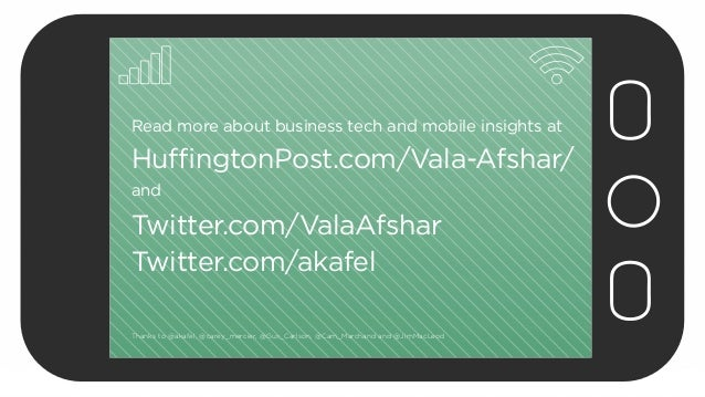 Read more about business tech and mobile insights at  HuffingtonPost.com/Vala-Afshar/ and  Twitter.com/ValaAfshar Twitter....