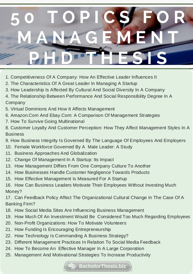 Change management phd thesis