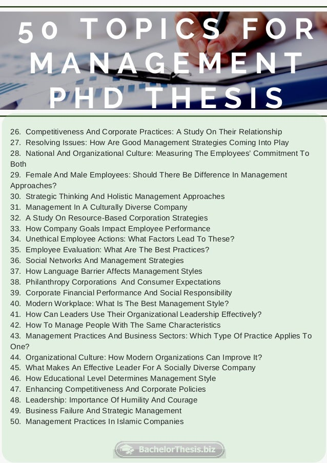 Phd thesis on management