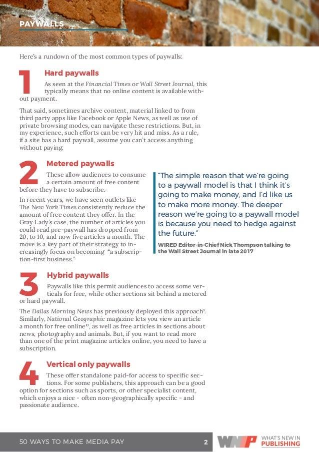 50 Ways to Make Media Pay
