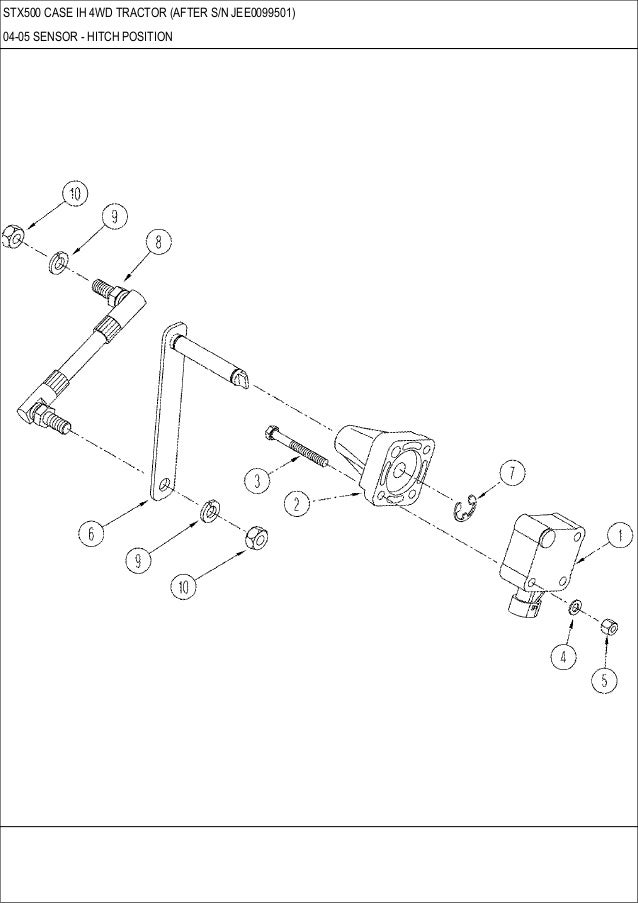 STX 500 CASE IH 4WD Tractor parts catalog