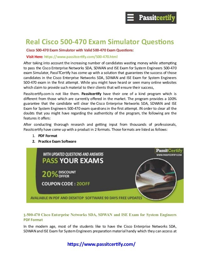 Cisco 500 470 Exam Questions Pass In First Attempt