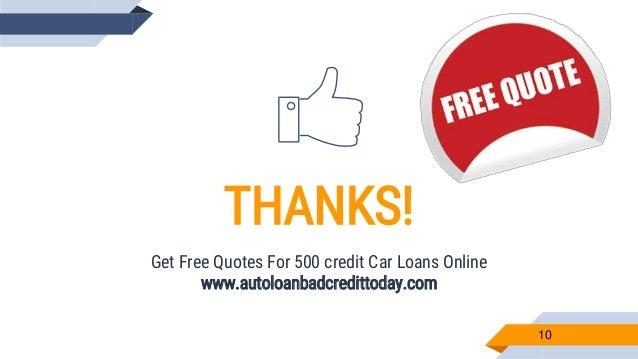 500 Credit Score >> Car Loan With A 500 Credit Score