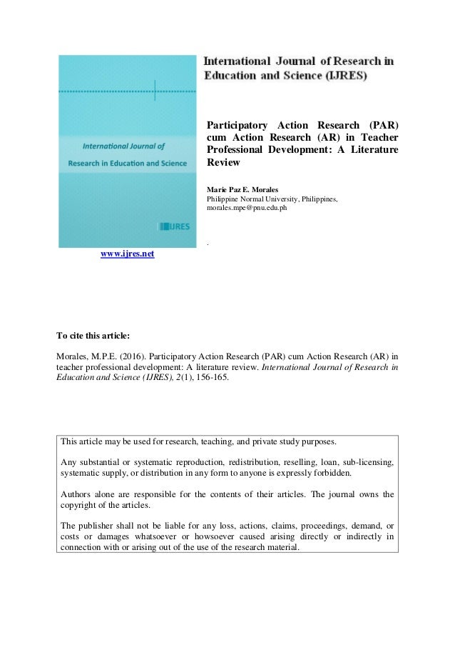 participatory action research literature review
