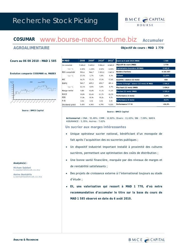 Recherche Stock Picking             COSUMAR                                                                               ...