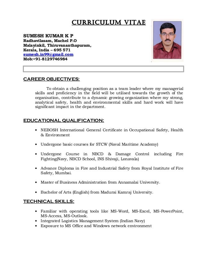 nigil cv safety officer 1 2