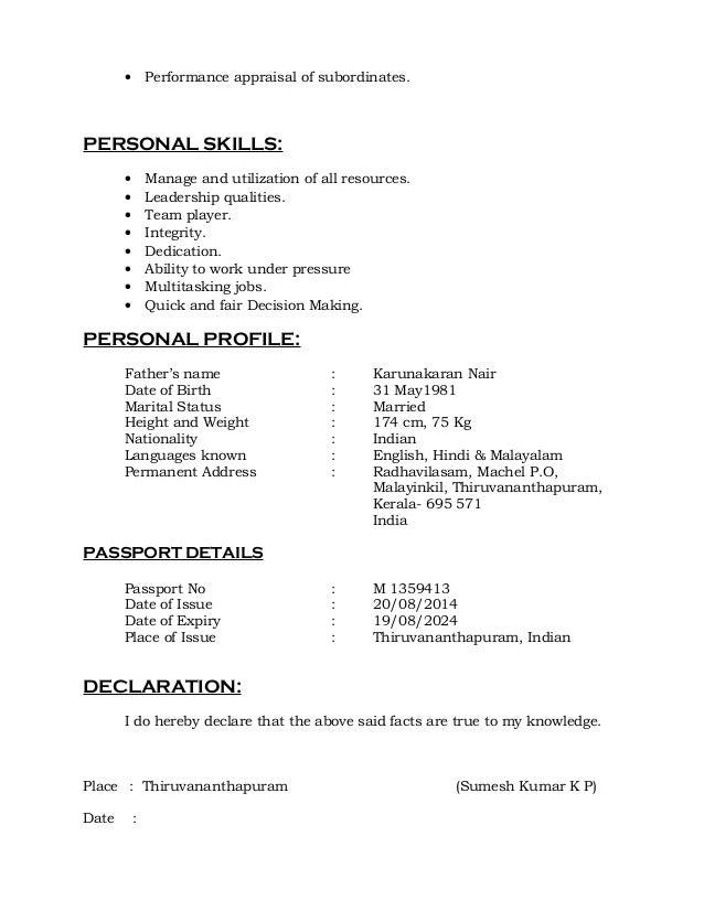 Nigil Cv Safety Officer 1 2