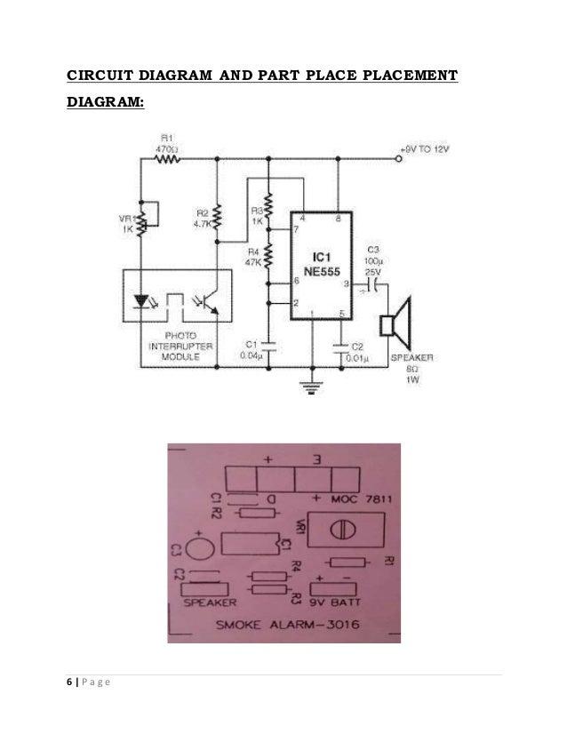 Simple Smoke Detector Circuit Diagram | Smoke Alarm Using Photodiode