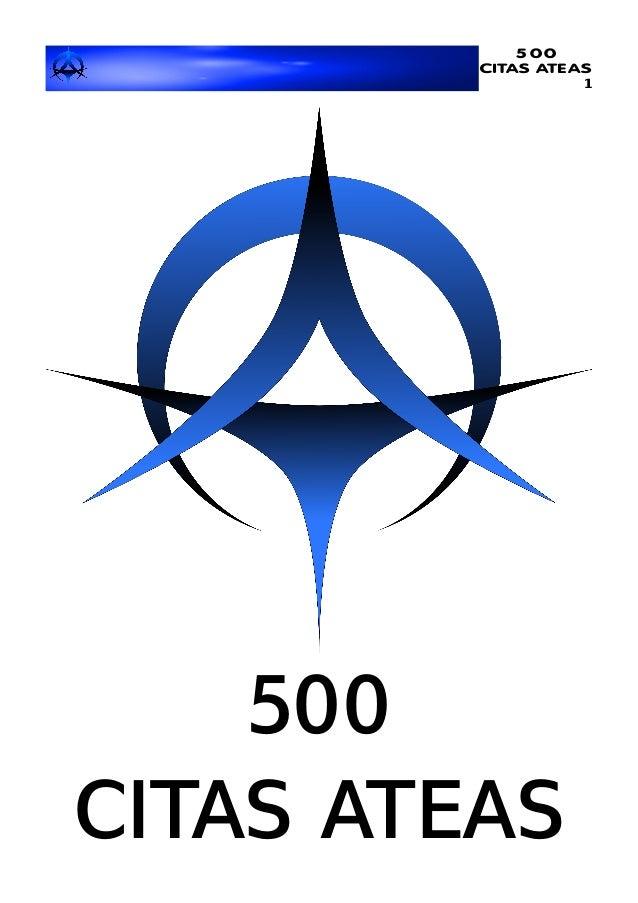 500 CITAS ATEAS 1 500 CITAS ATEAS